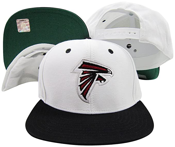 06bfee6a Atlanta Falcons White/Black Two Tone Snapback Adjustable Plastic Snap Back  Hat/Cap