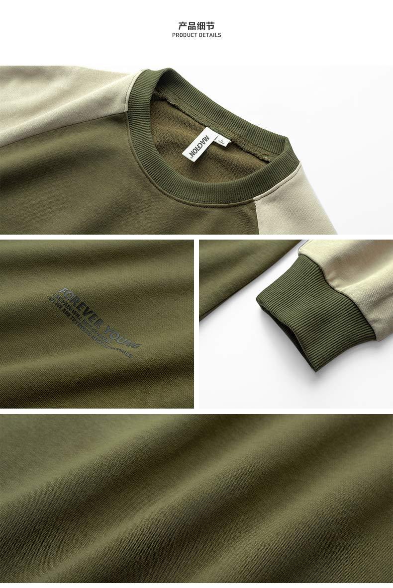 WSDMY Sweatshirt Shirt Pantalon en Tissu Veste de Couleur Assortie Pull col Rond mar/ée Hommes///Jeunes /étudiants Printemps
