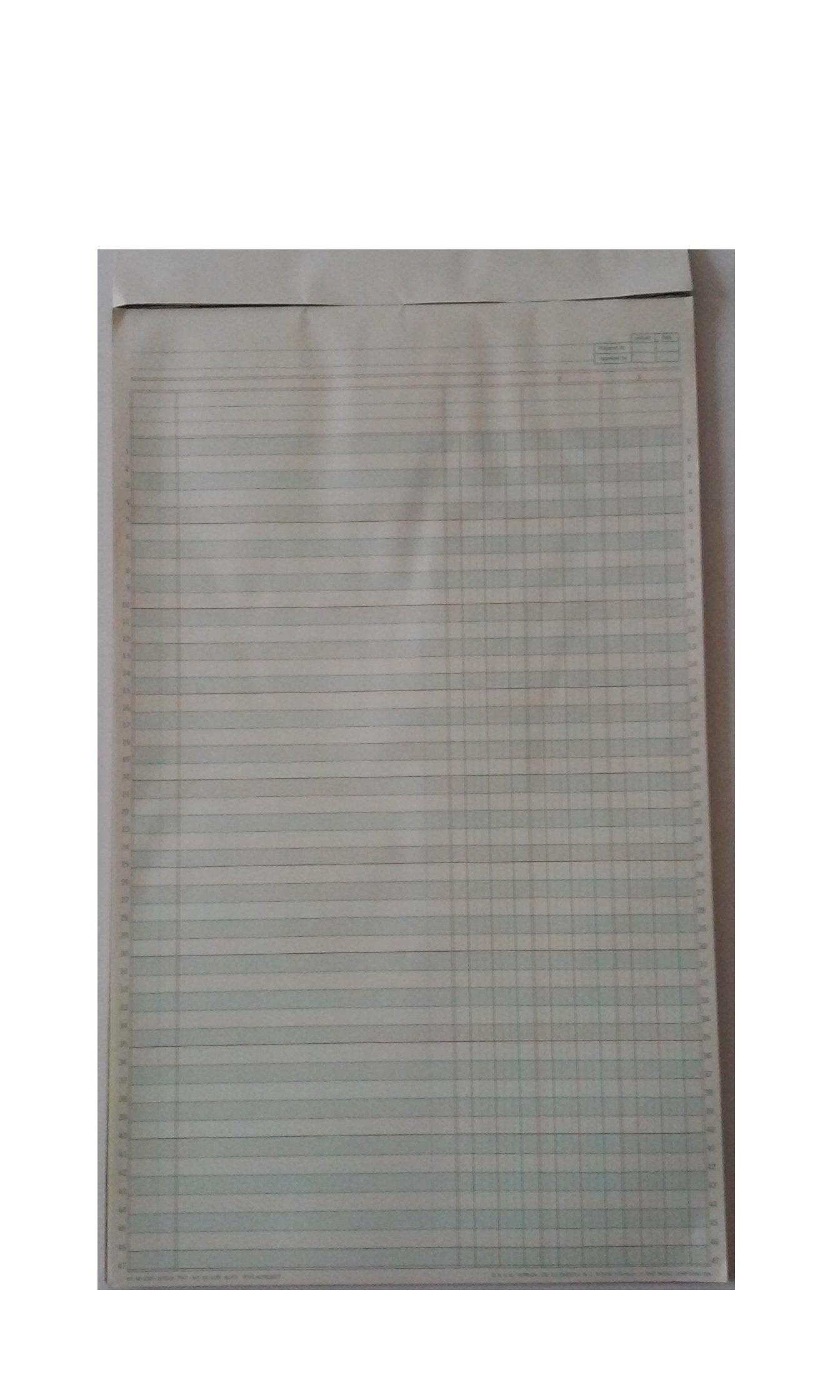 Vernon Royal rite-across 58-2330 Columnar Pad 8 1/2'' x 14'' 3 Columns 50 Sheets