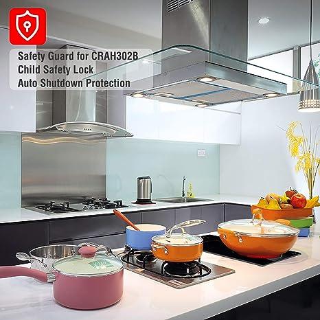 Amazon.com: Cocina Eléctrica, ECOTOUCH 12 pulgadas Radiant ...
