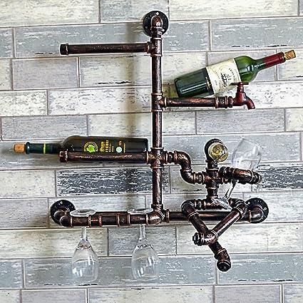 Estilo de la personalidad de estilo retro de hierro de hierro lámpara de pared de vino