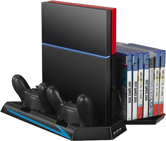 GAMINGER Estación de carga con USB puerto para PlayStation 4 PS4 ...