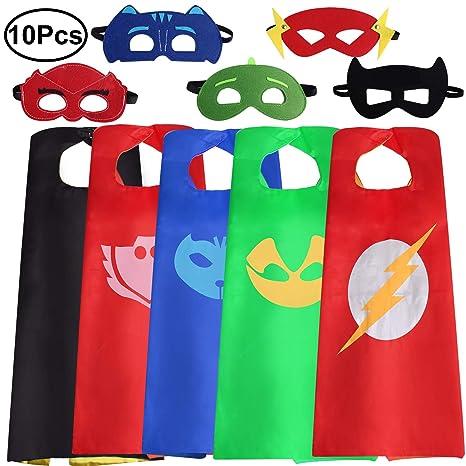 Standie Superhéroe Disfraces de Disfraces, 5 Juegos Unisex niños ...