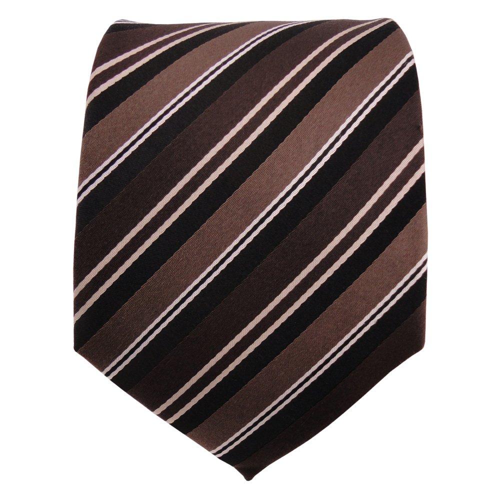 Corbata de seda - marrón marrón oscuro color-chocolate blanco ...