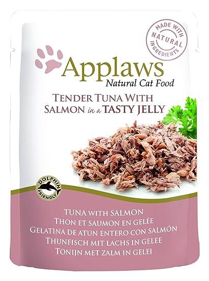 Applaws - Comida humeda para Gatos Gato Jelly Pouch atun y Salmon 70 gr
