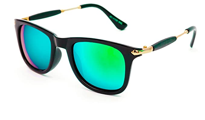 e9a3a0f225a Image Unavailable. Image not available for. Colour  TheWhoop UV Protected  Green Mirrored Wayfarer Unisex Sunglasses