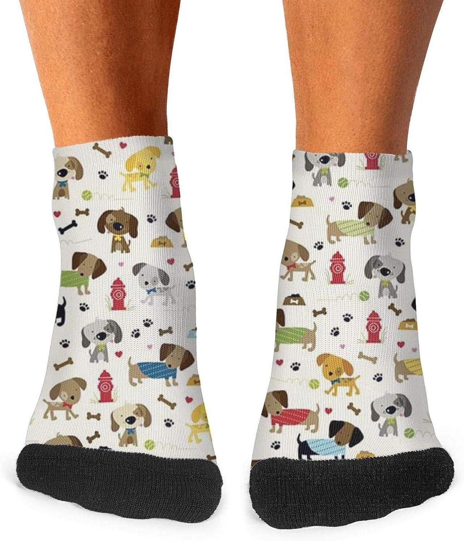 Floowyerion Mens Rover Cream Dogs Bone Novelty Sports Socks Crazy Funny Crew Tube Socks