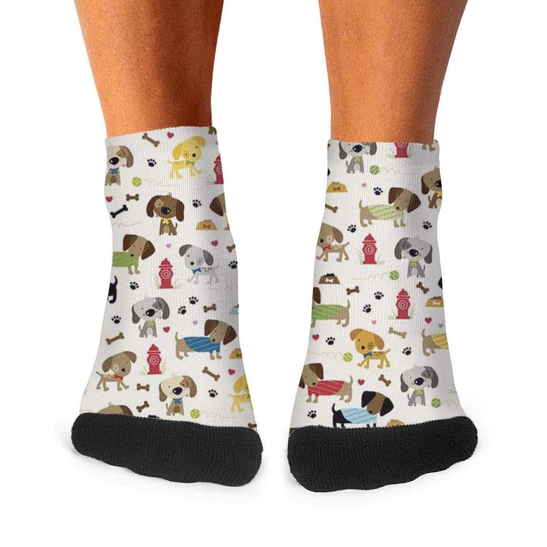 Mens athletic low cut Ankle sock Rover Cream Dogs Bone Short Comfort Sock