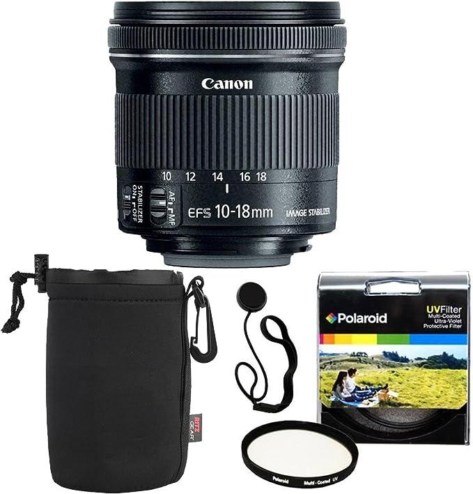 Pro Accessory Bundle No Warranty Canon EF-S 10-18mm f//4.5-5.6 is STM Lens Lens Cleaning Pen 4 Piece Close Up Macro Filters 10-18mm STM: Stepper International Version 3 Piece Filter Set