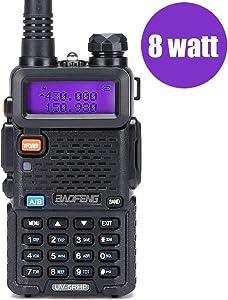 Walkie Talkies 2 Way Radio BaoFeng Radio Series UV-5RH High Power 8 Watt Dual Band Two Way Radio for Hiking Camping Trolling (Newer Version of Baofeng UV-5R) by LUITON