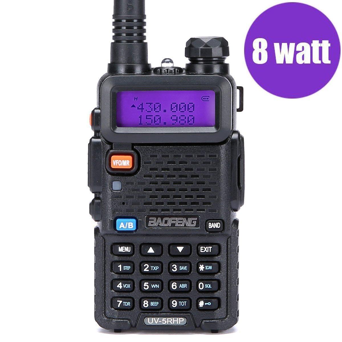 Walkie Talkies 2 Way Radio BaoFeng Radio Series UV-5RH High Power 8 Watt Dual Band Two Way Radio for Hiking Camping Trolling (Newer Version of Baofeng UV-5R) by LUITON by LUITON