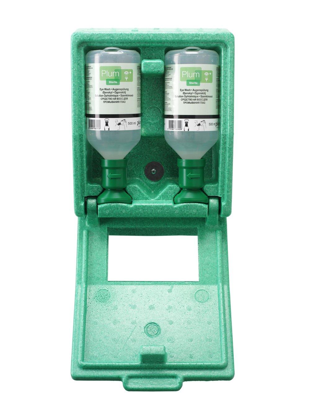 Plum 45852 Small Eyewash Station, 11'' Height, 4.75'' Wide, 8.5'' Length, 16.9  fl. oz., Polystyrene
