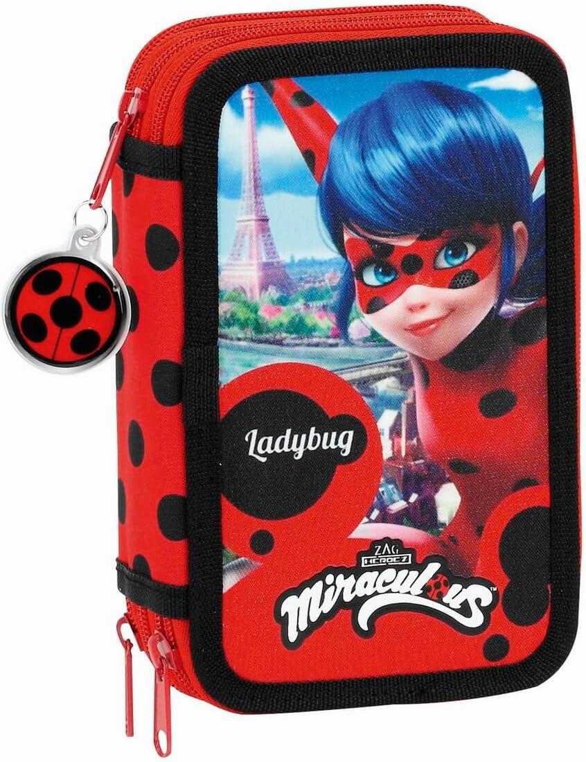 Estuche Ladybug Triple 36 Piezas: Amazon.es: Oficina y papelería