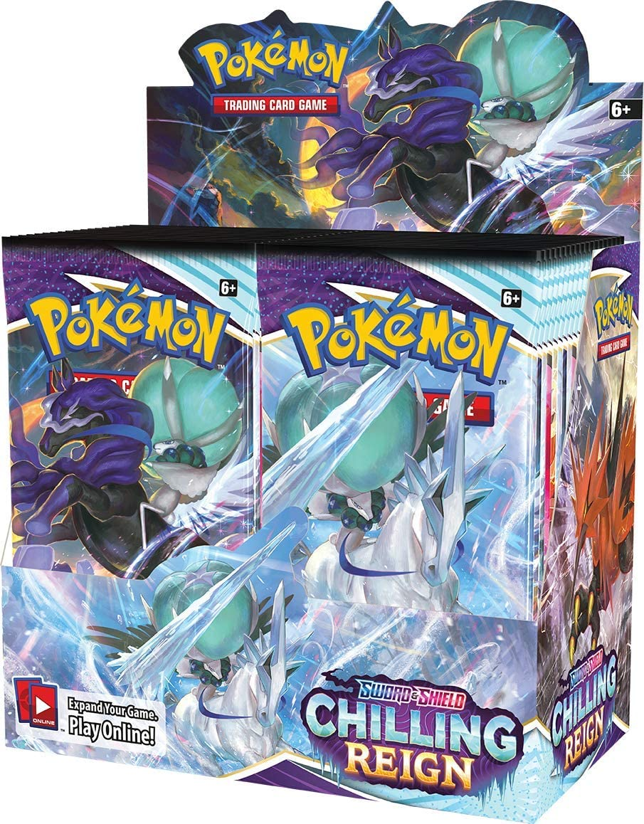 Pokémon TCG: Max 50% OFF Sword Shield—Chilling Reign Display Booster Max 89% OFF Box