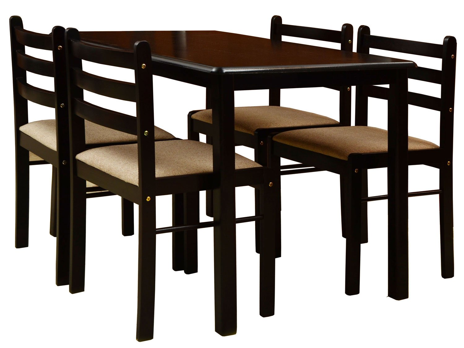 Nitraa Augusta Four Seater Dining Table Brown Amazonin Home Kitchen