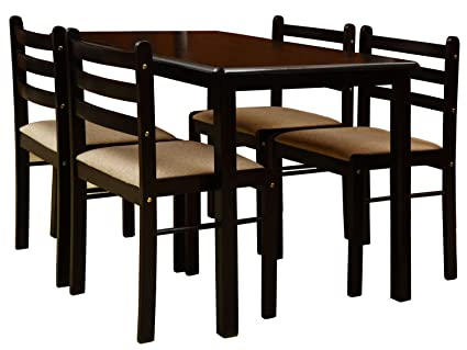 4 seater dining set oak nitraa augusta four seater dining table brown brown amazonin home