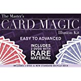 Magic Makers The Master's Card Magic Illusion Kit - 2 DVDs and a Standard Bicycle Deck