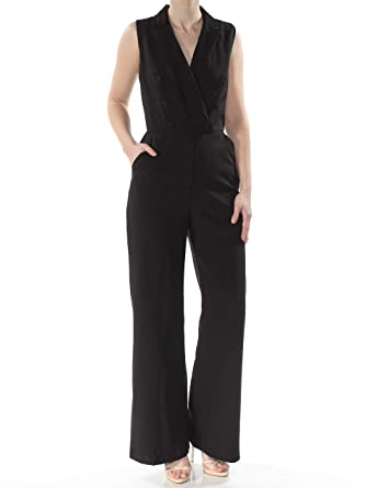 8fca948aadc0 Amazon.com  Adelyn Rae Womens Tuxedo Special Occasion Jumpsuit Black XS   Clothing
