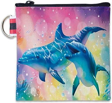 Canvas Coin Purse Sea Animals Change Cash Bag Zipper Small Purse Wallets