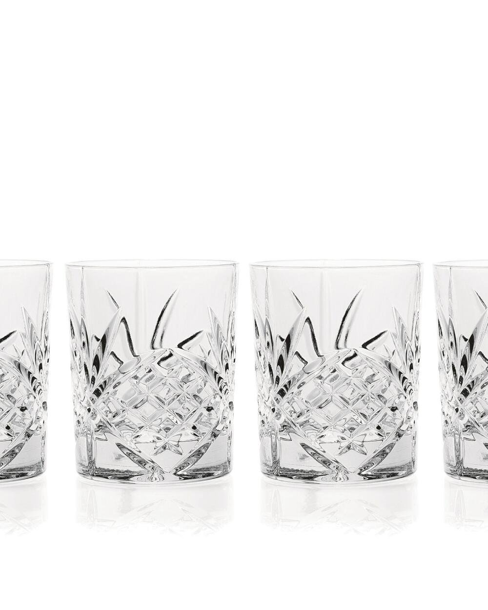 James Scott Double Old Fashioned Crystal Drinking Glasses Set, Irish Cut Design - Set of 4 - 8 Oz by James Scott (Image #5)