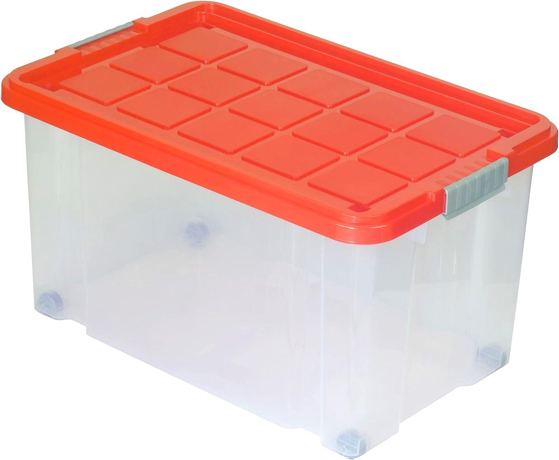Deckel Räder 60x40x30cm Box Boxen Euroboxen Unibox Stapelbox Rival Eurobox