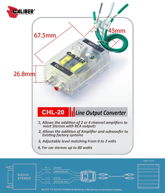 Amazon com caliber adjustable line out converter for car stereo pac sni 35 wiring diagram amazon  sc 1 st  gandul : epiphone nighthawk wiring diagram - yogabreezes.com