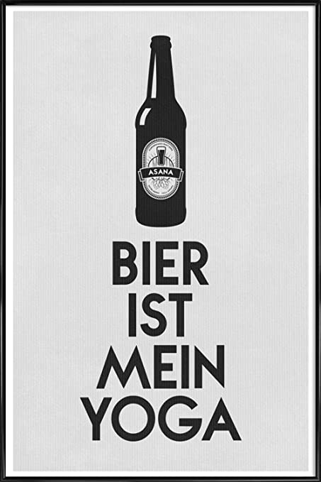 JUNIQE® Pictures with frames 30x45cm Beer Black & White - Design ...