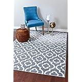 3028 Gray Moroccan Trellis 7'10x10'6 Area Rug Carpet Large New