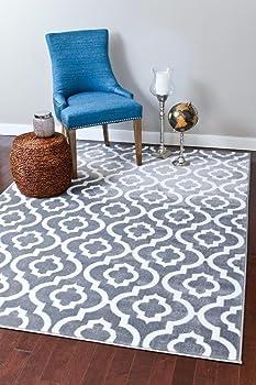 3028 Gray Moroccan Trellis Shag Carpet