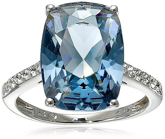 Amazon Com Sterling Silver Swarovski Crystal Ring Jewelry