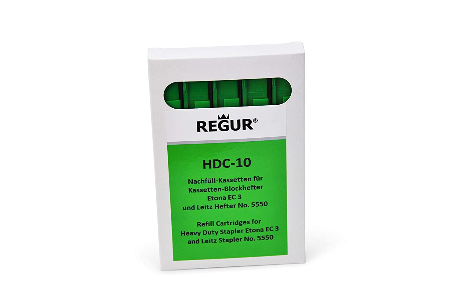 REGUR HDC 10 Green Staple Cassette Refills (40-55 Sheets ) for Etona EC3 Dr. Gold & Co.