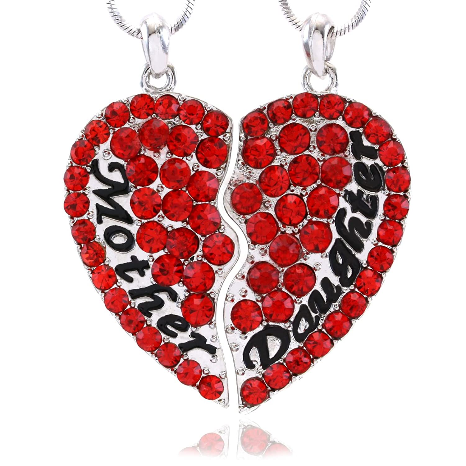 Amazon.com: Mother Mom Daughter Valentines Day Heart Pendant Necklace  Engraved Letters Gift For Motheru0027s Day: Jewelry