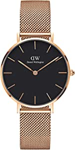 Daniel Wellington Women's Watch Classic Petite Melrose in Black 32mm