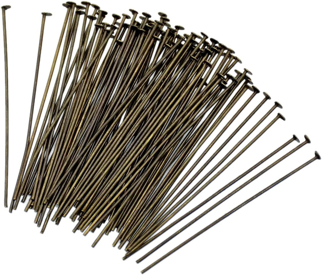 DIY Jewelry Making 700 PC Mixed Sizes Gunmetal Color Eye Pins Findings Head Pins 2.1mm Hole 0.7mm Thick