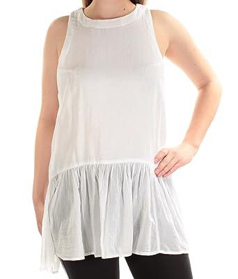 6e87baeb4f84a1 Free People Women's Breathless Moments Batiste Tunic White X-Small