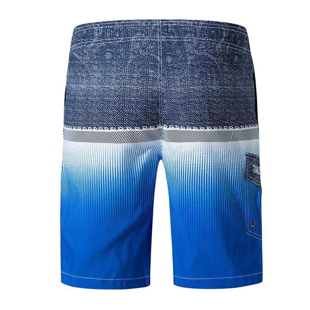 e60d409b43 Mnyycxen Mens Swim Trunks Quick Dry Board Shorts with Pockets Summer Beach  Short | Amazon.com