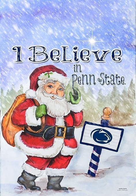 Amazon.com : NCAA Penn State Nittany Lions Christmas Santa Holiday Garden  Flag : Sports & Outdoors