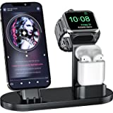OLEBR 3 in 1 Charging Stand Compatible with Apple Watch 45mm/44mm and 41mm/40mmSeries 7/SE/6/5 /4/3 /2/1, AirPods Pro and Ph