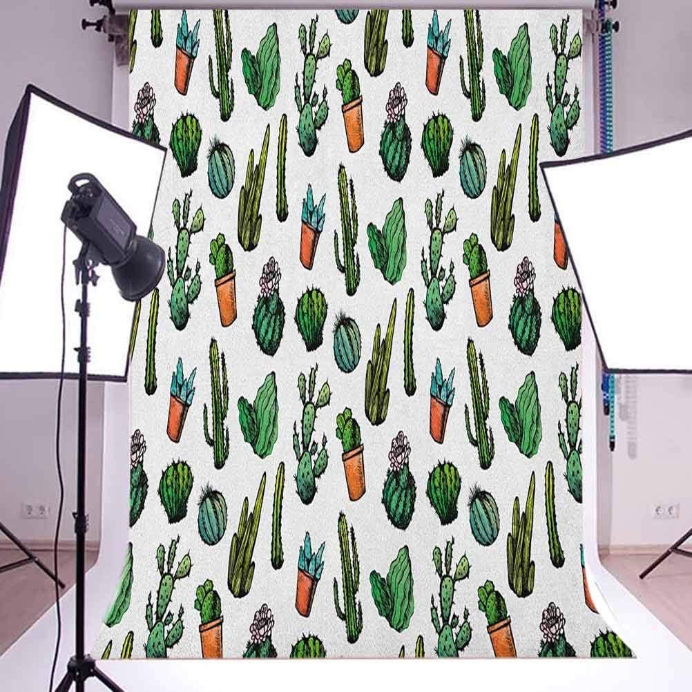 7x10 FT Zoo Vinyl Photography Background Backdrops,Animals in The Forest Cartoon Illustration Safari Jungle Ecosystem Greenery Background Newborn Baby Portrait Photo Studio Photobooth Props