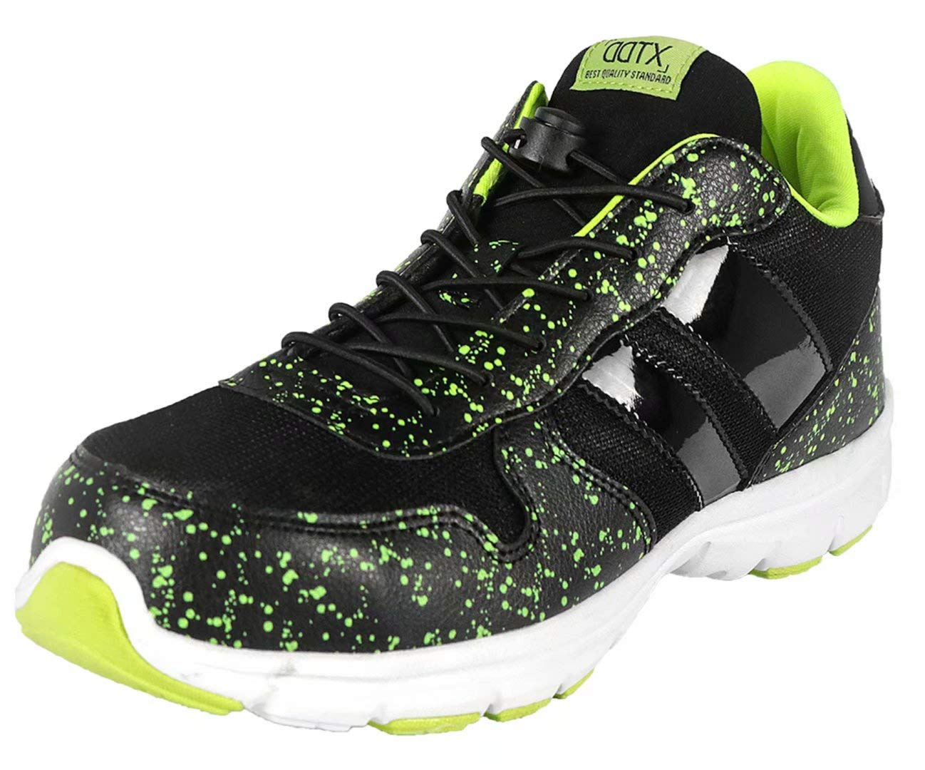 DDTX Spring and Summer Lightweight Safety Sneakers Mens' Steel Toe Work Shoes Black (11.5) by DDTX (Image #2)