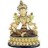 Estatua Tara Verde 13x 9x 17cm Peso 512G Principio Femenino Buddhismo Base la Acerca conoscenza deità la compassione