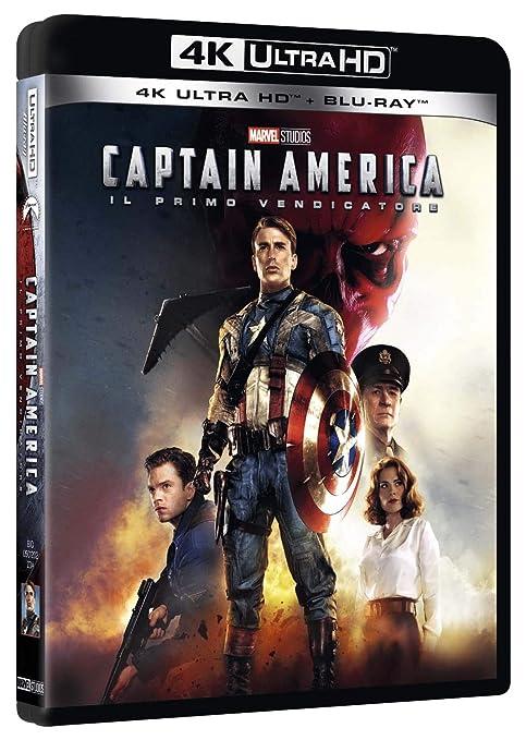 Captain America Blu-Ray 4K Ultra HD+Blu-Ray Italia Blu-ray: Amazon.es: Hayley Atwell, Dominic Cooper, Chris Evans, Samuel L. Jackson, Tommy Lee Jones, Alan Silvestri, Stanley Tucci, Hugo Weaving, Joe Johnston, Hayley Atwell, Dominic