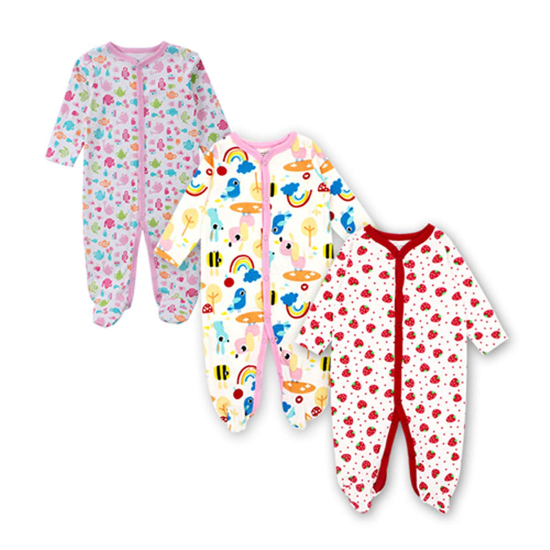 Evan Fordd Newborn Baby Boys Girls Clothes Babies Long Sleeve Sleepwear Romper Jumpsuit