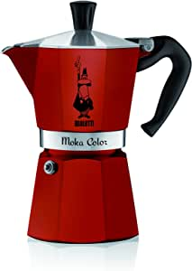 Bialetti Moka Color Espresso Coffee Maker (6 Cups, Bordeaux)