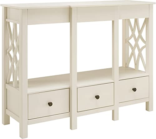 Linon TV Stand Antique White