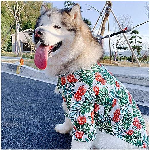 HUILI Camisa Hawaiana para Mascotas, Ropa para Perros Ropa para Perros Hawaiana Breeze Moda de Playa Verano Manga Corta Estilos Hawaianos Impresos de Colores para Perros medianos y Grandes,4XL: Amazon.es: Hogar