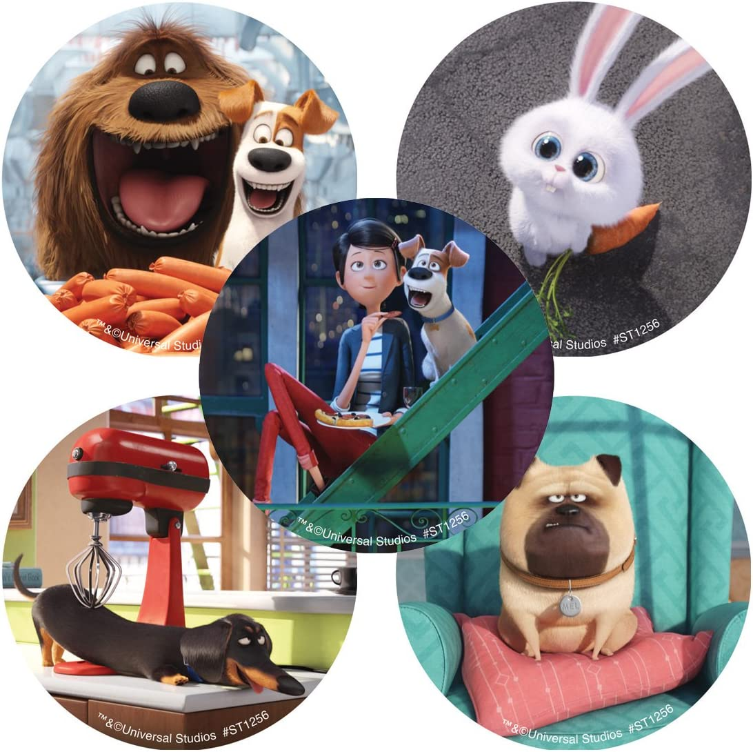 Prizes 100 per Pack The Secret Life of Pets Stickers