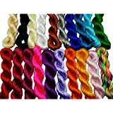 Pamir Tong Full-colors 20bundles 300 Yards 1.5mm Satin/Rattail Nylon Cord for Necklace Bracelet Beading Chinese Knot GD20C73