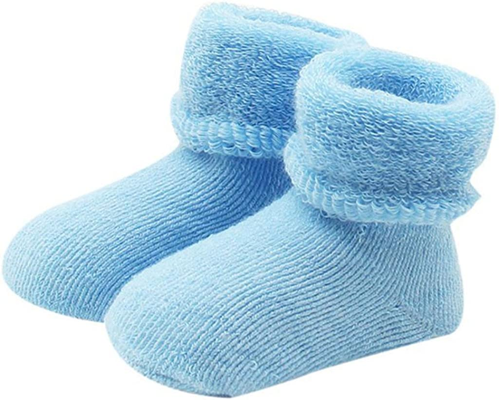 Yamalans Cute Baby Toddlers Winter Warm Keeper Soft Socks Elasticity Cotton Boots Socks