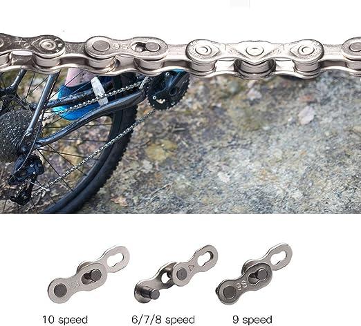 Fahrrad Mountain Road Bike Kettenverbinder Verbindung für 6 7 8 Speed Silber ZF